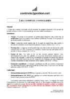 Fiche – Les comptes consolidés