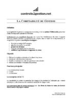 Fiche – La comptabilité de gestion