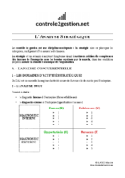 Fiche – L'analyse stratégique