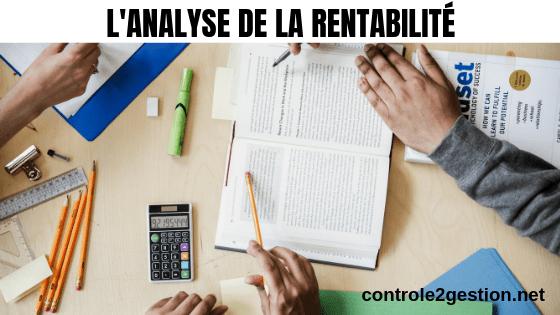 Analyse de la rentabilité