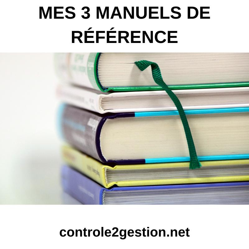 Mes 3 manuels de référence
