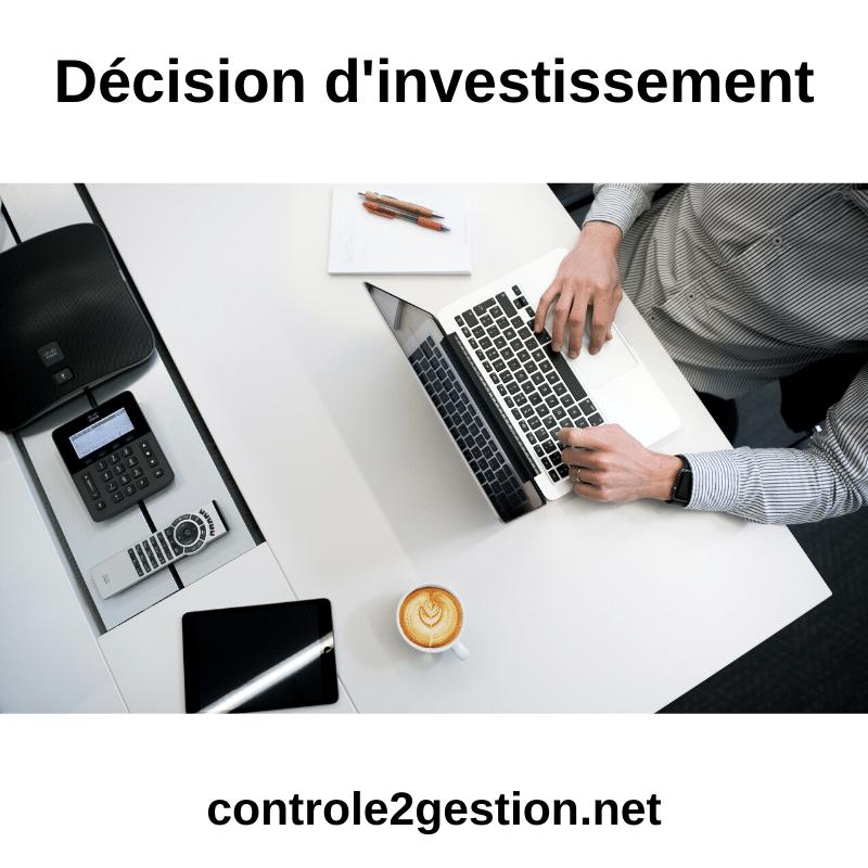 Décision d'investissement